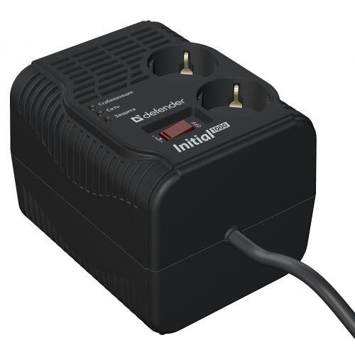 (99016) Стабилизатор напряжения AVR Initial 600VA 200Вт, 2 розетки, Uвх 175-285В