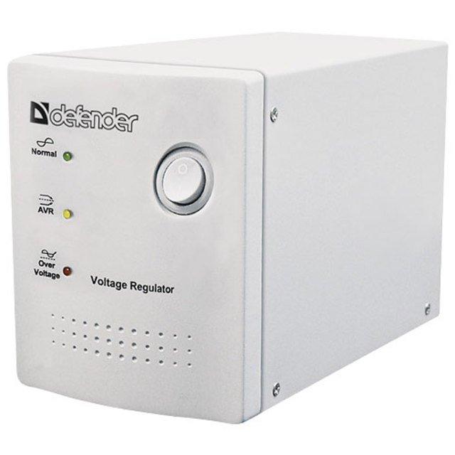 (99019) Стабилизатор напряжения Defender AVR Real 1000VA 500Вт, 4 розетки, Uвх 150-280В