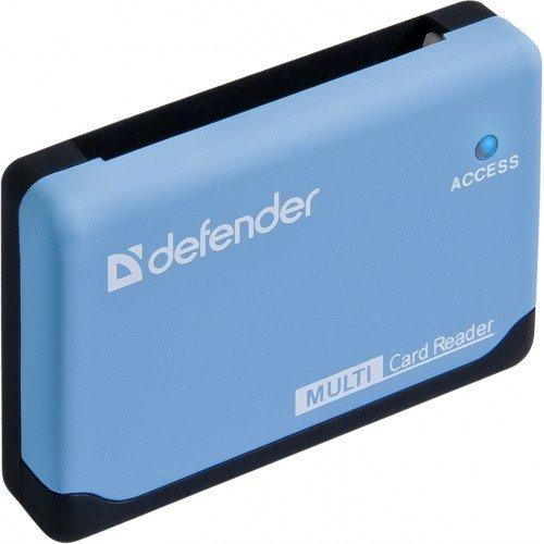 (83500) Кардридер DefenderULTRA, работает с картами большого объема + кабель USB 2.0 A(M) - MiniB