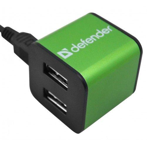 (83506) Разветвитель DefenderQUADRO IRON USB2.0 - 4 порта, метал. корпус, до 480 Мбит/с, +кабель U